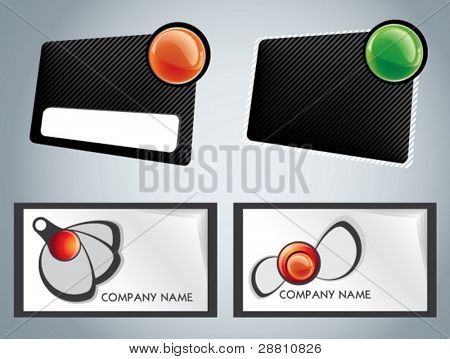 Set of business cards with firm styles