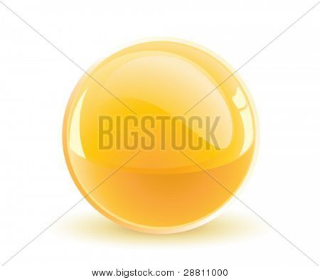 3d vector yellow sphere