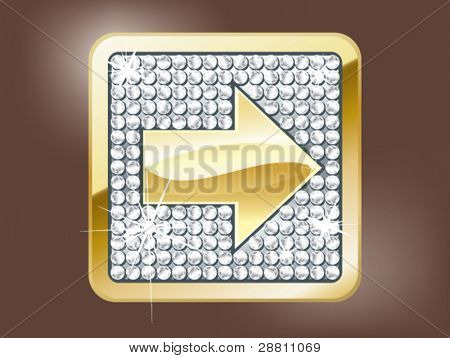 Gold arrow forward button
