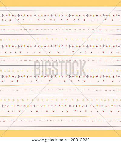 Cute Stripes Seamless Background
