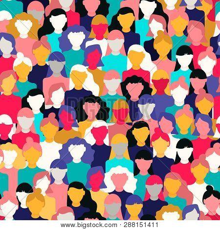 International Womens Day Seamless Pattern