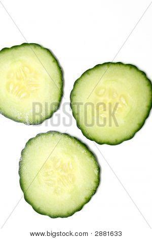 Three Cucumber Slices