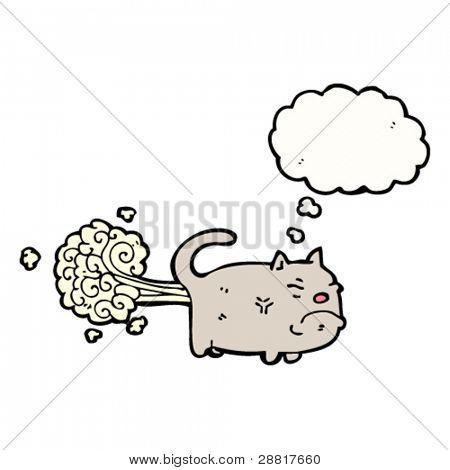 gross farting cat cartoon