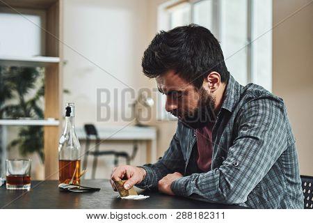 The Drug Addict Is His
