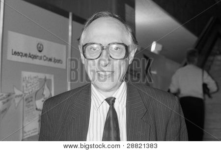 BRIGHTON, ENGLAND - OCTOBER 1: Rt.Hon. Donald Dewar, Labour party Member of Parliament for Glasgow Garscaddon, attends the party conference on October 1, 1991 in Brighton, Sussex. He died in 2000.