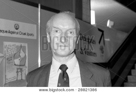 BRIGHTON, ENGLAND - OCTOBER 1: Rt.Hon. Donald Anderson, Labour party Member of Parliament for Swansea East, attends the party conference on October 1, 1991 in Brighton, Sussex.