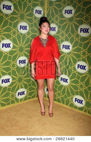 LOS ANGELES - JAN 8:  Jenna Ushkowitz arrives at the Fox TCA Party - Winter 2012 at Castle Green on January 8, 2012 in Pasadena, CA