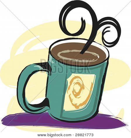 Vector Coffee Mug Illustration