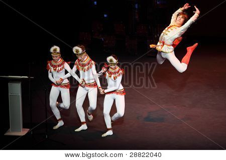 MOSCOW - MAR 17: Ballet dance at concert of Gennady Ledyakh School of Classical Dance in theater Et Cetera, Mar 17, 2011, Moscow, Russia. Concert held for winners in competition on Russian language.