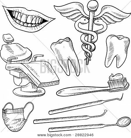 Dentistry object sketches
