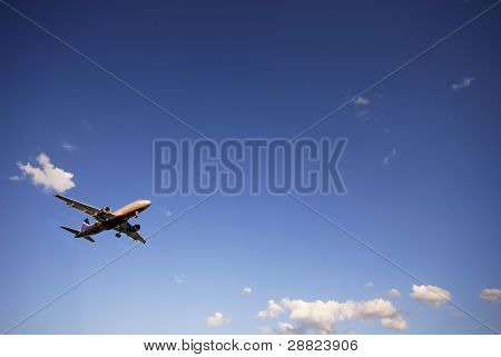 Airplane on landing
