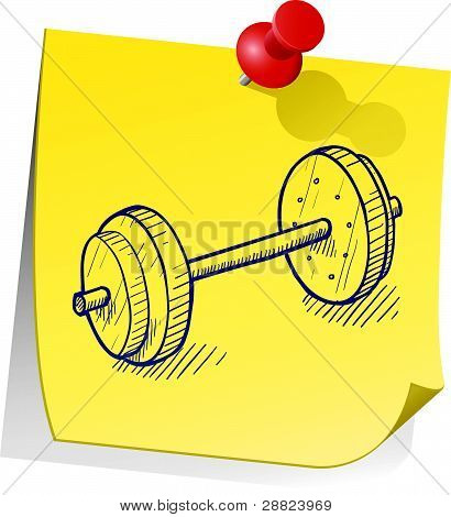 Go to the gym sticky note