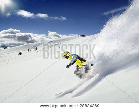 der Skifahrer