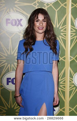 LOS ANGELES - JAN 8:  Lea Michelle at the FOX All Star Winter TCA Party at Castle Green on January 8, 2012 in Pasadena, California.