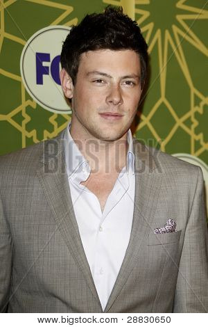 LOS ANGELES - JAN 8:  Cory Monteith at the FOX All Star Winter TCA Party at Castle Green on January 8, 2012 in Pasadena, California.