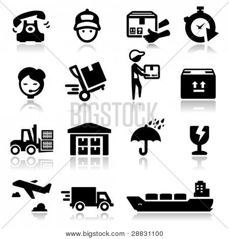 Icons set shipping and delivery