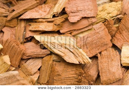 Extreme Close Up Of Mesquite Chips