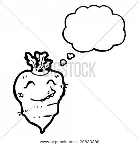 funny turnip cartoon character