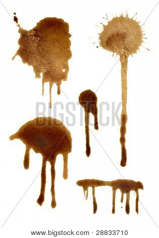 set of coffee splashes