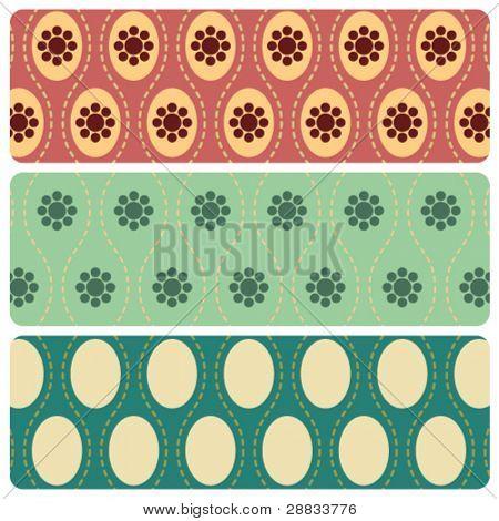 seamless retro pattern set