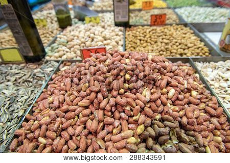 Dried Nuts And Seeds In