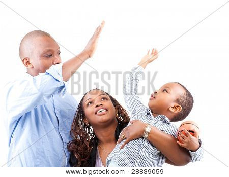 Young fresh and happy family