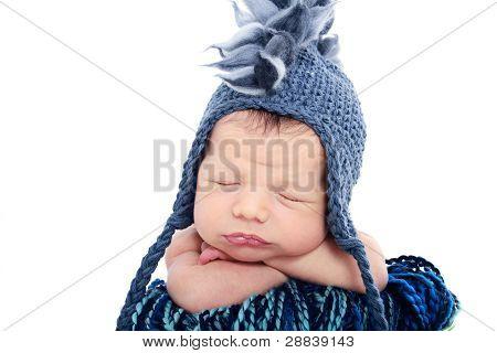 Newborn Baby In Hat