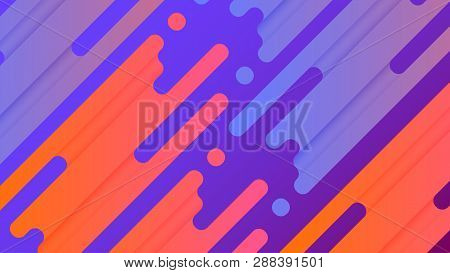 poster of Abstract Line Vector Background Illustration. Colorful Vibrant Splash Lines Are Placed On Purple Gra