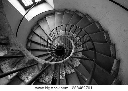 Spiral Stairs Of An Old