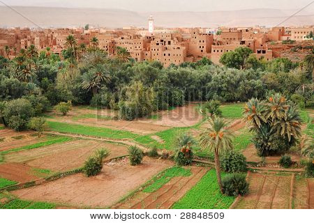 Moroccan village in Todra Valley, Africa