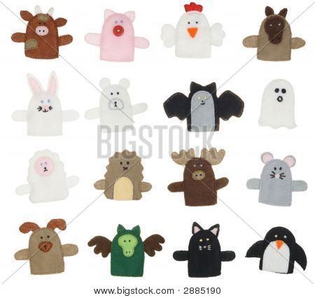 Isolated Finger Puppets