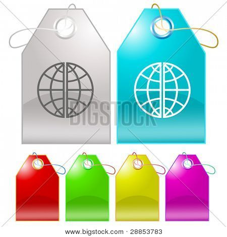 Globe. Raster tags. Vector version is in my portfolio.