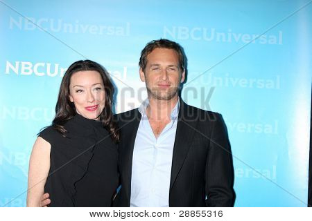 LOS ANGELES - JAN 6:  Molly Parker, Josh Lucas arrives at the NBC Universal All-Star Winter TCA Party at The Athenauem on January 6, 2012 in Pasadena, CA
