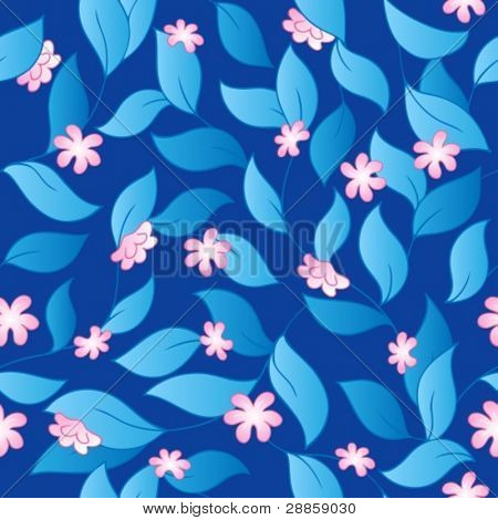 Flowery seamless background 3 - vector illustration.
