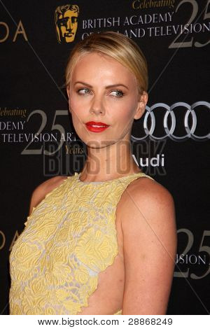 LOS ANGELES - JAN 14:  Charlize Theron arrives at  the BAFTA Award Season Tea Party 2012 at Four Seaons Hotel on January 14, 2012 in Beverly Hills, CA