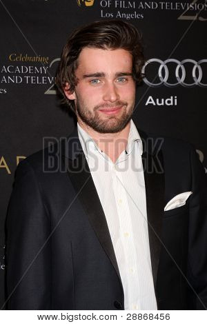 LOS ANGELES - JAN 14:  Christian Cooke arrives at  the BAFTA Award Season Tea Party 2012 at Four Seaons Hotel on January 14, 2012 in Beverly Hills, CA