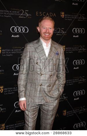 LOS ANGELES - JAN 14:  Jesse Tyler Ferguson arrives at  the BAFTA Award Season Tea Party 2012 at Four Seaons Hotel on January 14, 2012 in Beverly Hills, CA