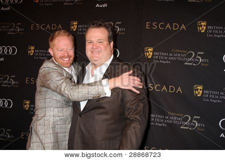 LOS ANGELES - JAN 14:  Jesse Tyler Ferguson, Eric Stonestreet arrives at  the BAFTA Award Season Tea Party 2012 at Four Seaons Hotel on January 14, 2012 in Beverly Hills, CA