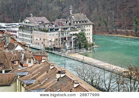 An image of some houses in Bern Swiss