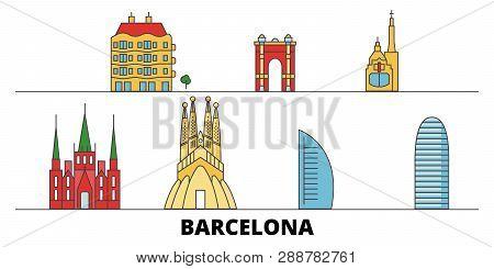 Spain Barcelona City Flat Landmarks