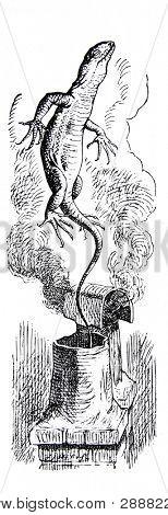 Proyecto de ley que empujó fuera de la chimenea. Grabado por John Tenniel (Reino Unido, 1872). Illustrati