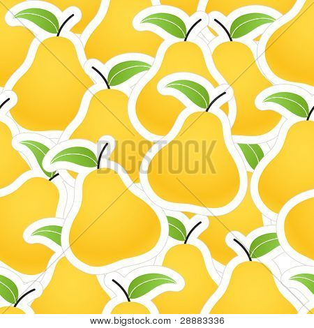 Orange pear seamless background