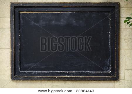 Black board, chalkboard for messages