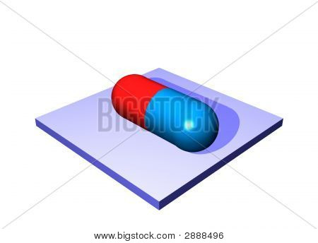 Pill Antibiotics - Medical Icons Isolated