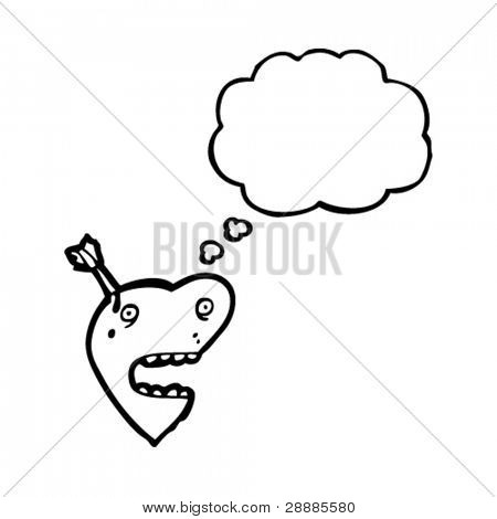 quirky heart with thought bubble