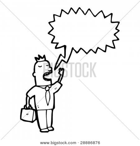 businessman shouting cartoon