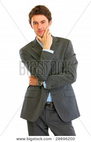 Portrait Of Confident Modern Businessman