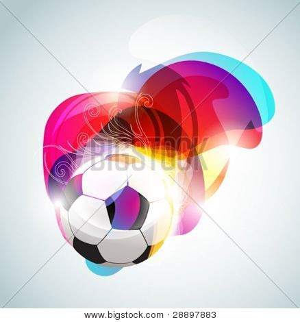 Abstract football banner