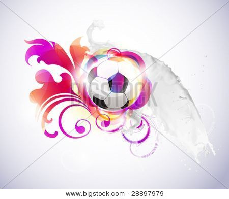 Abstract football background with milk splash