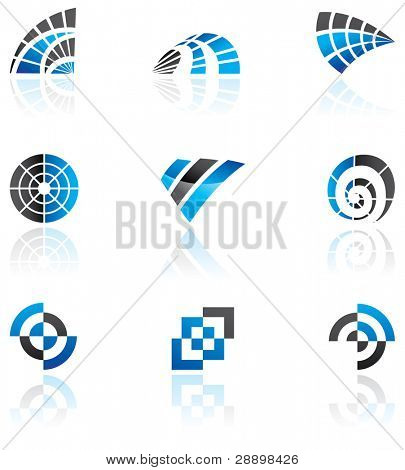 Various blue logos to go with your company name